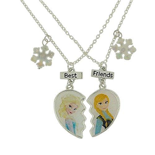 """Disney - Collane """"Best Friends"""", tema """"Frozen - Il Regno di Ghiaccio"""", 40,6 cm, con estensore da 7,6 cm, colore: argento"""