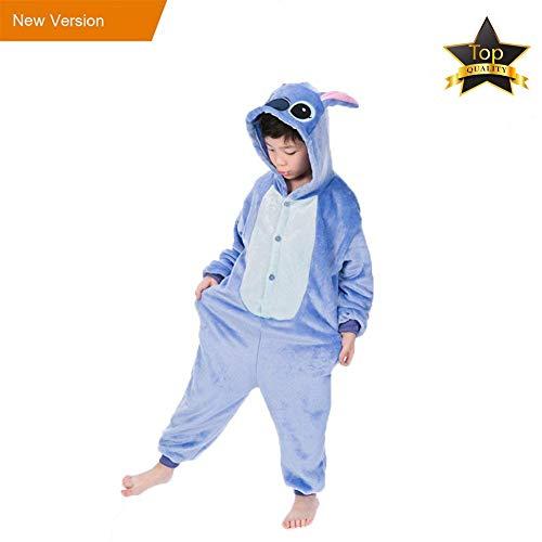 Pyjamas Einteiler Junge Mädchen Kinder Einhorn Tier Kostüm -