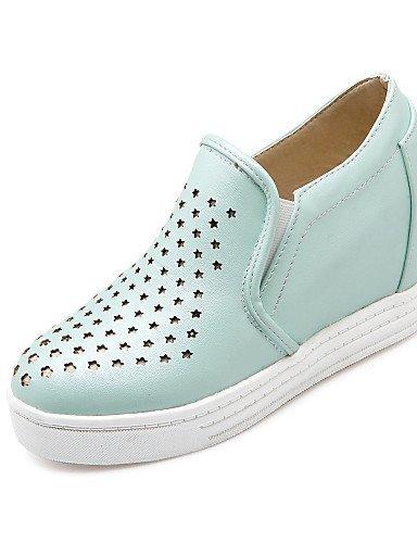 Shangyi Gyht Chaussures Femme-mocassins-loisirs / Formel / Décontracté-compensées / Plateau / Bout Rond En Cuir Synthétique-faux-bleu / Rose / Blanc / Beige Blanc
