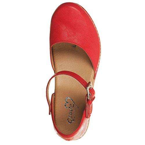 VialeScarpe Sas-7733slro_38, Damen Sandalen rot rot 38 Rot