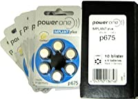 Cochlear Implant Plus Power One Hearing Aid Battery - P675 (12 Cells)