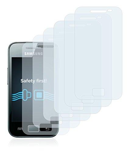 Savvies Pellicola Protettiva Compatibile con Samsung Galaxy Ace S5830i Protezione Schermo [6 Pezzi]