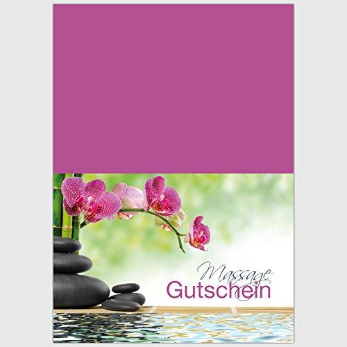 "Gutschein ""Massage – Orchidee"" – Format: DIN A6, 50 Stück"