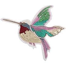 Lentejuelas Apliques Parche De Aves Para Artesanía Del Bordado De Costura Derecha - Multicolor 1, 18X14.5cm