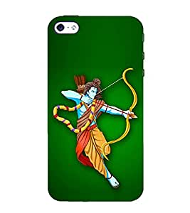 PrintVisa Lord Ram Devotional 3D Hard Polycarbonate Designer Back Case Cover for Apple iPhone 4
