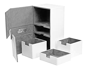 Ultimate Guard Twin FlipŽnŽTray Deck Case 200+ Caja de Cartas Tamaño Estándar XenoSkin Blanco