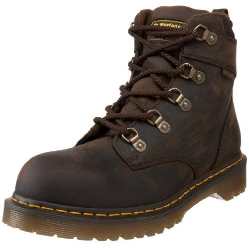 Dr. Martens Holkham Steel Toe Hiker,Gaucho,5 UK/7 M US Women's/6 M US Men's (Uniform Womens Mens)