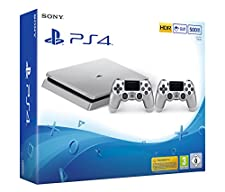 PlayStation 4 - Konsole (500GB, silber, slim) inkl. 2. DualShock Controller