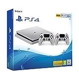 PS4: PlayStation 4 - Konsole (500GB, silber, slim) inkl. 2. DualShock Controller