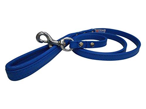 Angel Pet Supplies 40008Leder Hund Leine, 121,9cm X 1/5,1cm Kobalt Blau