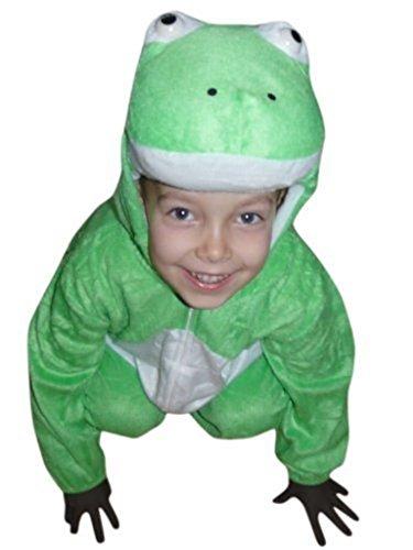 Seruna Frosch-Kostüm, J01/00 Gr. 98-104, für Kinder, Frosch-Kostüme Frösche für Fasching Karneval, Klein-Kinder Karnevalskostüme, Kinder-Faschingskostüme, Geburtstags-Geschenk - Kleiner Frosch Kind Kostüm