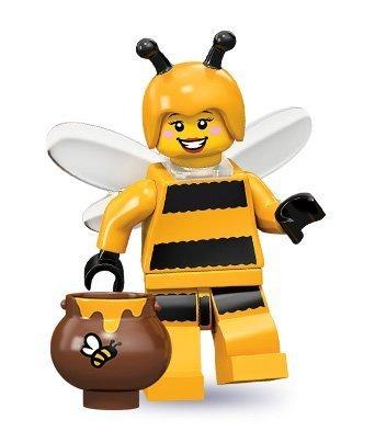 LEGO 71001 - Minifigur Mädchen im Bienen-Kostüm aus Sammelfiguren-Serie 10