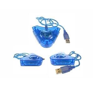 Convertisseur 2 manettes pour PS2 - bleu