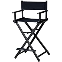 Makeup Artist Aluminium Portable Director Chair MAYLAN - Black