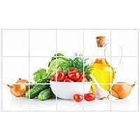 Tefamore Pegatina de pared Cocina a prueba de aceite etiqueta adhesiva de pared desmontable Art Decor Hogar Decal