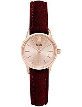 Cluse Damenuhr La Vedette Rose Gold/Red Velvet CL50018