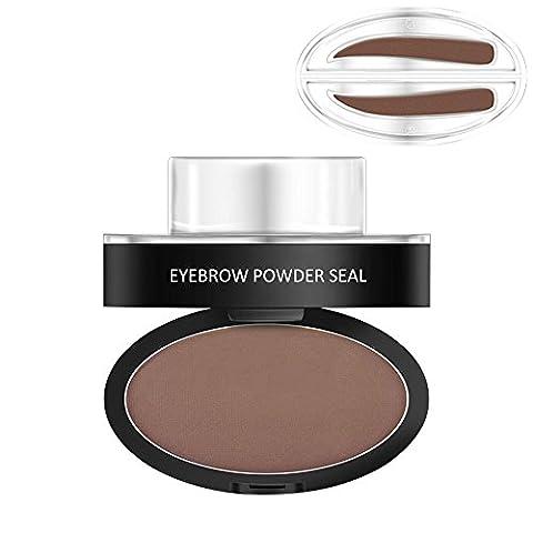 GGG Eyebrow Powder Stamper Seal Eyebrow Pencil Thrush Artifact Stencil Long-Lasting Waterproof Eyebrow Makeup Kit For Beginners - Dark Coffee Synophridia