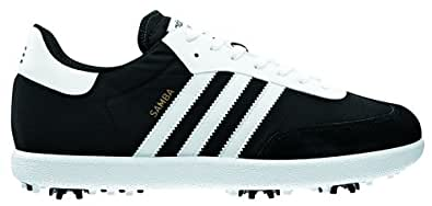 2013 Adidas Samba Funky Golf Shoes-Black/White-10UK