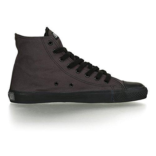 Ethletic Black Cap vegan HiCut - Farbe pewter grey / black aus Bio-Baumwolle Größe 39 - 5