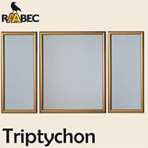 Cadre photo triptyque or dimensions :  50 x 80 cm, pour peinture par numéros d'images par ravensburger ou exemple schipper