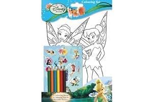 Disney Fairies (TinkerBell) affiche à colorier format A4 & autocollants à apposer sur