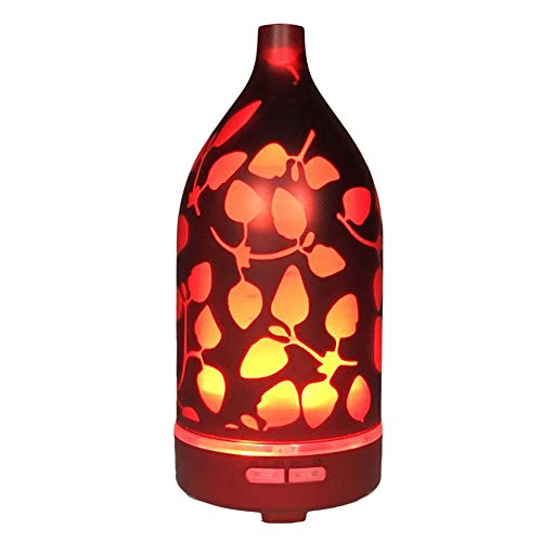 ZX Humidificador de Vidrio Aroma Colorida Noche Luz Ultrasónica Humidificador de Aire Máquina de aromaterapia de Vidrio Ambiental
