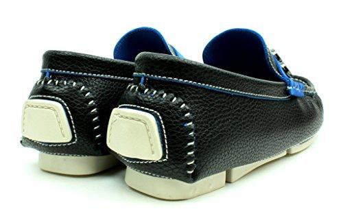 Unisexe Mocassins À Enfiler Chaussures Semelle Antidérapante Mode Décontractée Semelle Mocassins Tailles Noir