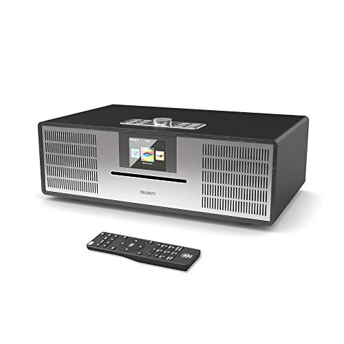 MAJORITY Willingham DAB/DAB+/UKW Digital-Radio - 30W CD Player - Hi-Fi Lautsprechersystem - Fernbedienung - AUX in und USB MP3 Wiedergabe - Farbdisplay (Schwarz)