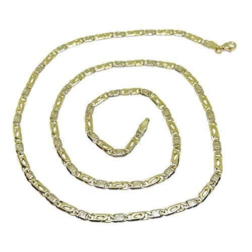 Never Say Never 18k Bicolor Goldkette für Herren 4 mm Fackel und 60 cm lang. 18.50 g Gold