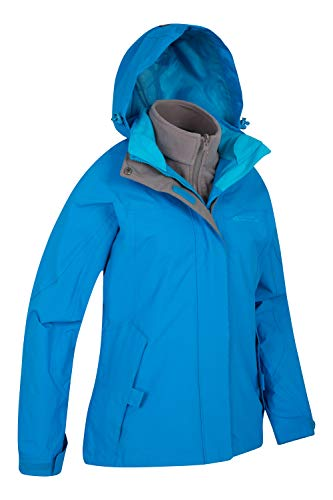 Here we have an amazingly designed hiking jacket that we are big fans of. As the title suggests, the Mountain Warehouse Storm 3 in 1 Women's Waterproof Jacket consists of two separate layers – an outer waterproof shell and an inner fleece jacket, which is actually removable which is what we really like.