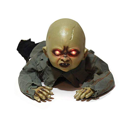 Jamisonme Crawling Halloween Crawling Zombie, Electronic Light Sensored Horror Zombie, Ghost Decorations for Halloween, Bars, Haunted Houses, ()