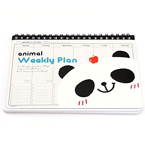 KING DO WAY Animal Carnet De Notes Fantaisie Avec 75 Pages Cahier Calepin Dessin DIY Journal Diary Notebook Panda 18.5cmX13.4cmX1cm