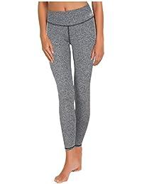 Le pantalon de sport femme Leggings pantalons de survêtement pantalons de conditionnement physique idéal et des pantalons longs en noir et gris de Gwinner