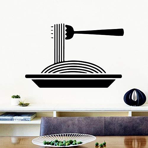 Modeganqingg Art Nouilles Stickers muraux personnalité créative Restaurant décoration Stickers muraux Stickers muraux Stickers muraux 45cmX67.5cm