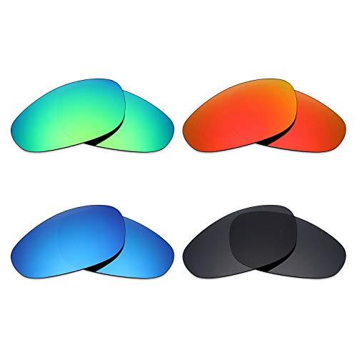 Mryok polarisierte Ersatzgläser für Oakley A Wire Sonnenbrille - Stealth Black/Fire Red/Ice Blue/Emerald Green