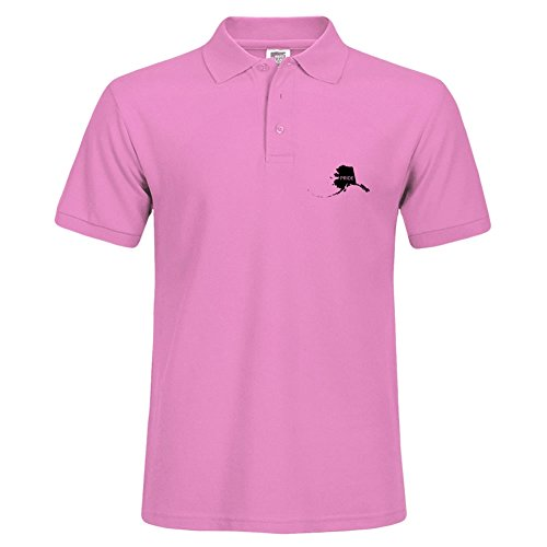 New Basic Version Polo Shirts Größe mit Cool Alaska Pride T-Shirt Style Polo Tees Größe L rose (T-shirt Alaska Fitted)