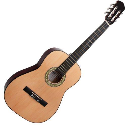 Classic Cantabile AS-851 7/8  Konzertgitarre Natur (Akustikgitarre , geeignet für Kinder im Alter von 11-13 Jahren, Bundmarkierung, Nylonsaiten)