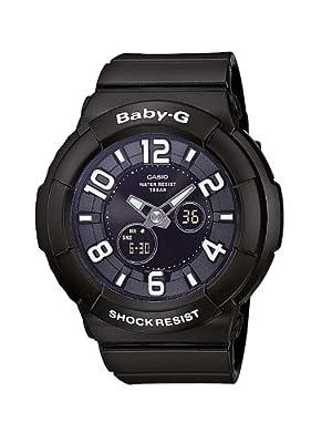 Casio BGA-132-1BER - Reloj analógico y digital de cuarzo para mujer con correa de resina, color negro