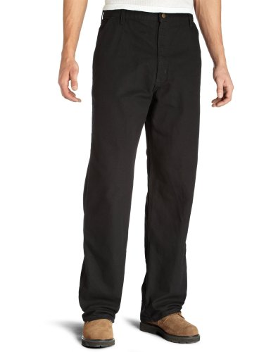 Carhartt Men's Washed Duck Work Dungaree Utility Pant B11,Black,33 x 30 (Dungaree Carhartt B11)