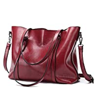 Europe and America Retro Fashion Cowhide Leather Bags Handbags Women Crossbody Bag Trunk Tote Designer Shoulder Bag Ladies Large Bolsos Mujer-Red