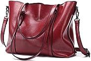 Europe and America Retro Fashion Cowhide Leather Bags Handbags Women Crossbody Bag Trunk Tote Designer Shoulder Bag Ladies La
