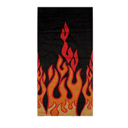 Spark Black Red Fire 13 in 1 Multipurpose, Multifunctional Unisex stylish Free size Headwarp Bandana Skull Cap Face Mask for cycling/Bikers Racer made from Polyster Cotton Lycra protect from Dust, Sunlight and wind  available at amazon for Rs.99