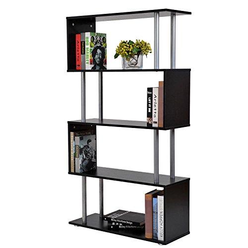 Outsunny HOMCOM Libreria di Design in legno Mobili Ufficio Scaffale