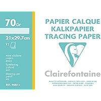 Clairefontaine–Papel de calco (A4, color blanco, 70/75G, Pack de 10
