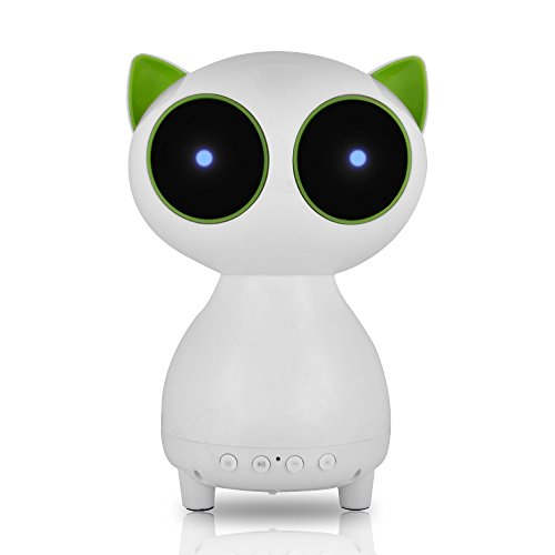 Asamoom Toy Cat with Bluetooth Speaker LED Light Loudspeaker Handfree With Mic +TF Card Slot