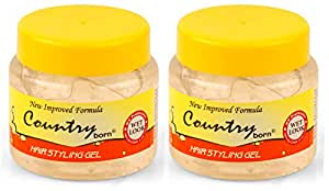 Country Born Hair Styling Gel Wet Look (2pcs)