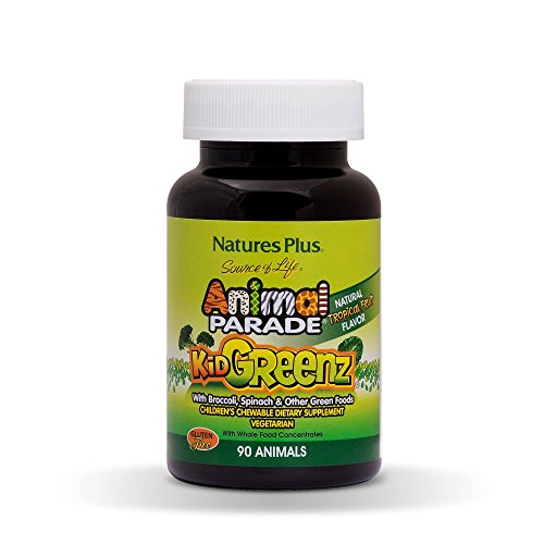 Nature's Plus - Animal Parade Kid Greenz, 250 mg, 90 chewable tablets (Natures Plus Chewable Vitamin E)