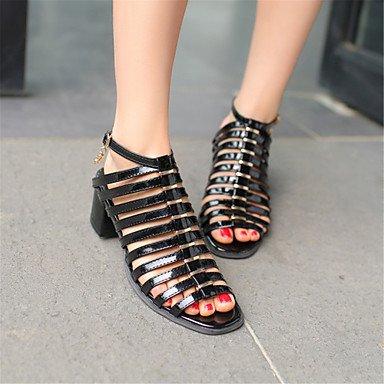 Enochx Donna Sandali Primavera Estate Autunno scarpe Club Comfort Novità Glitter Materiale personalizzato similpelle matrimonio abito Outdoor CasualChunky Black