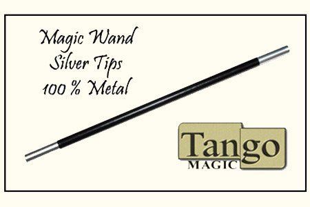 Magic-Wand-in-Black-with-silver-tips-by-Tango-Trick-W001