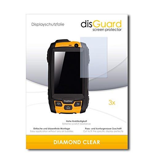 3 x disGuard® Schutzfolie RugGear RG500 Bildschirmschutz Folie